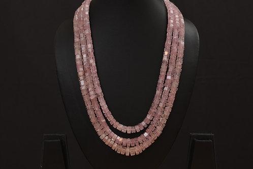 Lasya Necklace with morgonite stones LA0031