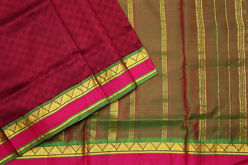 Tharakaram nine and a half yards silk saree PSTK040112