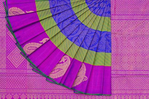 Thread work Kanjivaram silk saree SS1387