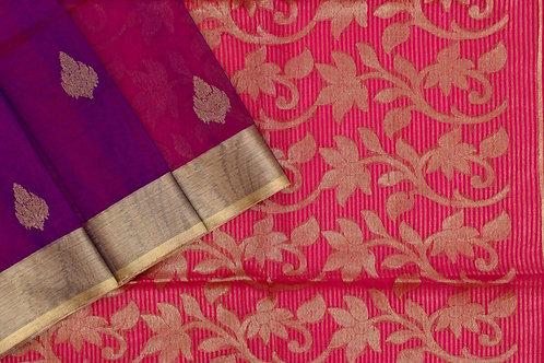 Roots Blended muslin silk saree PSRS190011