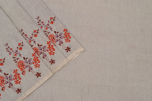 Coorv designs linen saree PSCO110023