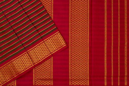 Nine yards silk saree SS1815