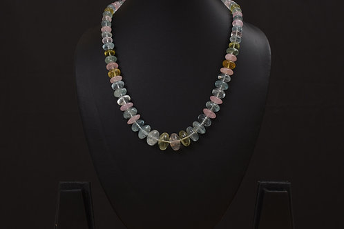 Lasya Necklace with aquamarine stones PSLA180033