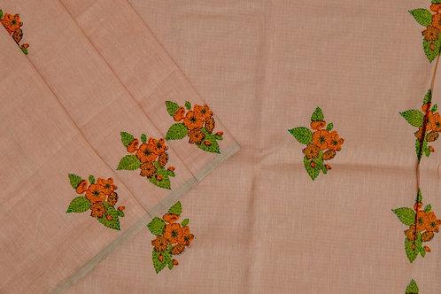 Coorv designs linen saree PSCO110003