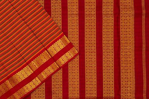 Nine yards silk saree SS1795