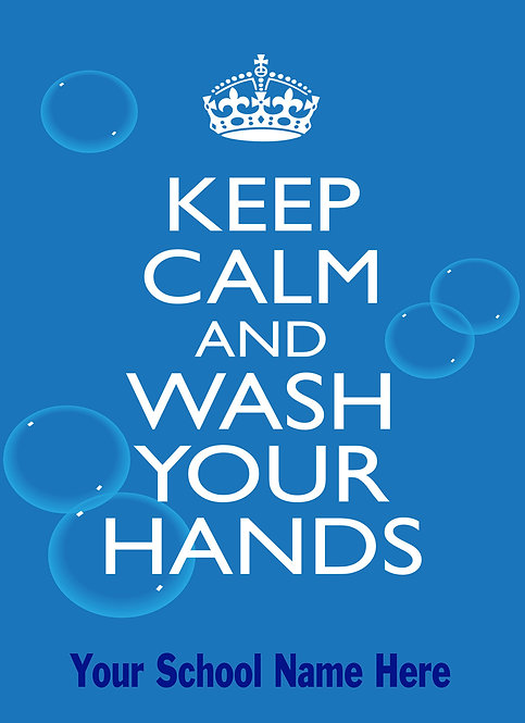 Pack of 4 Keep Calm Wash Your Hands