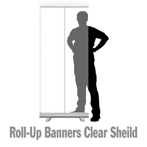 Roll Up Banner Clear Sheild