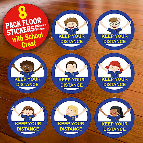 Pack of 8 Floor Stickers (primary)