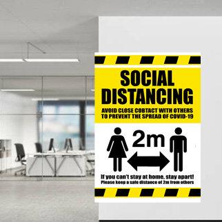 Waterproof Social Distancing Poster