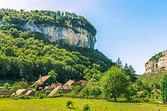 Picturesque medieval village Chateau-Cha