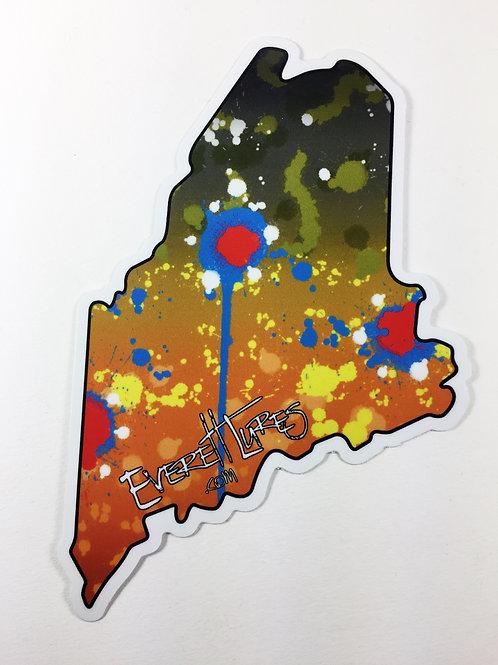 Maine Native Sticker - Brook Trout Pattern