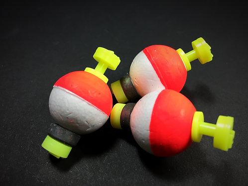 """3/4"""" Weighted Float - Hi-Viz Orange/white"""