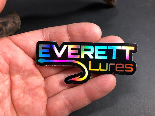 "3"" Holographic Everett Lures Decal"