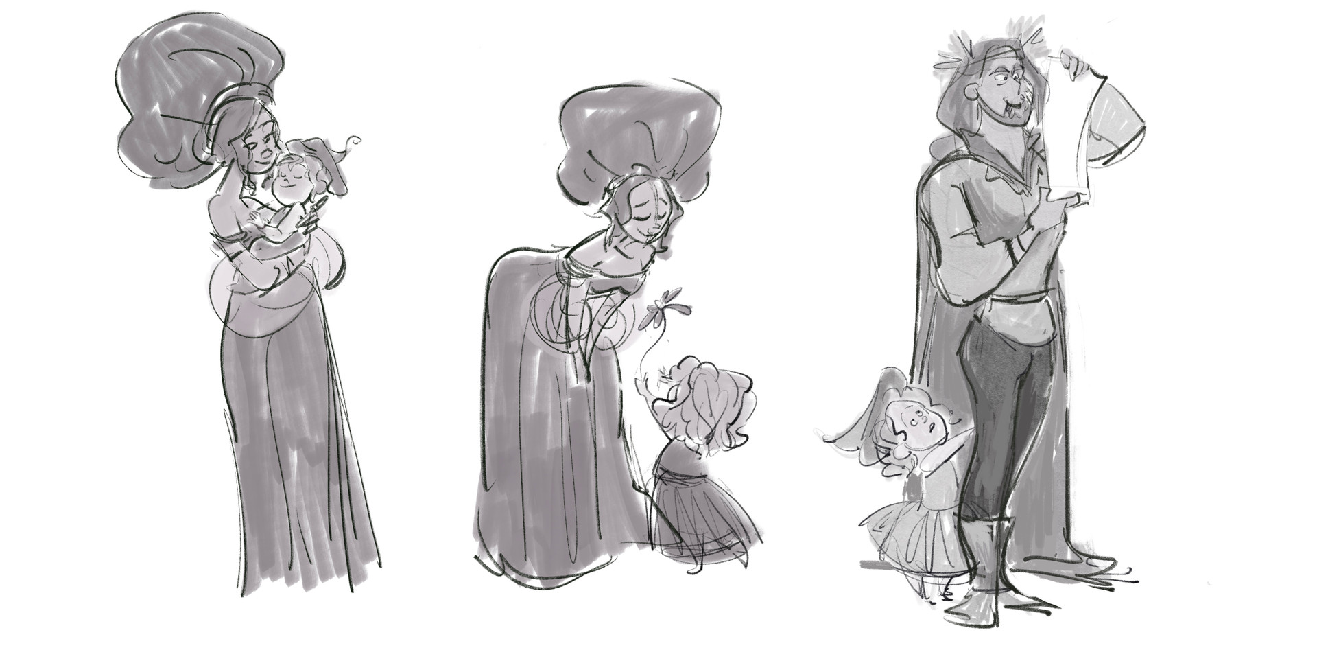 Character Moment Exploration Sketches