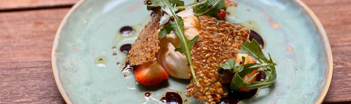 Burrata, fig, rocket (Veg)