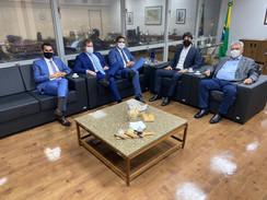 No retorno a Brasília, Misael se reúne com deputados do PSD e Ministro Fábio Faria