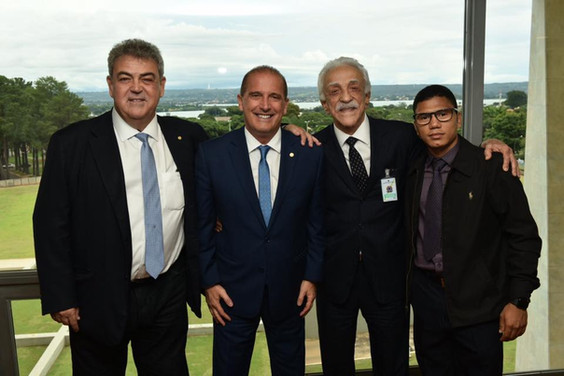 Ministro da Casa Civil recebe Misael e Lael em Brasília