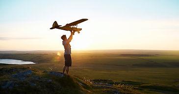 Muž Příprava na pilotovat letadlo