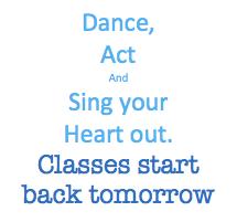 Classes start back tomorrow