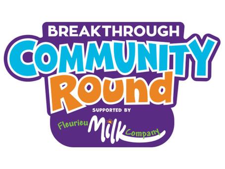Breakthrough Community Round - Saturday 15th August