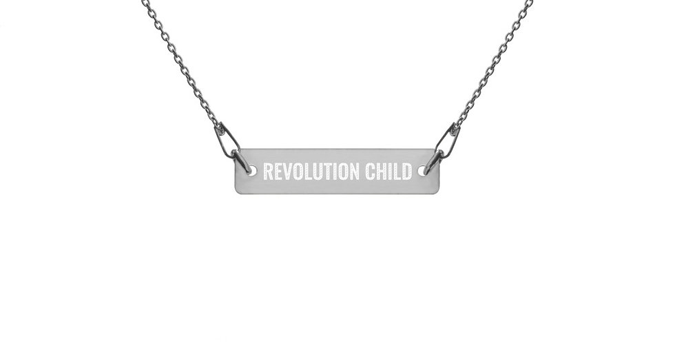 'REVOLUTION CHILD' Silver Chain Necklace