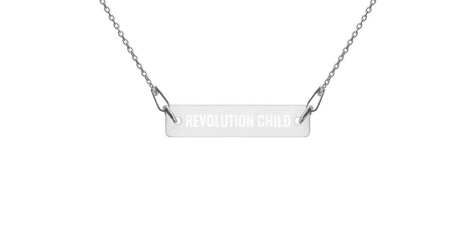 'REVOLUTION CHILD' Silver Chain Necklace