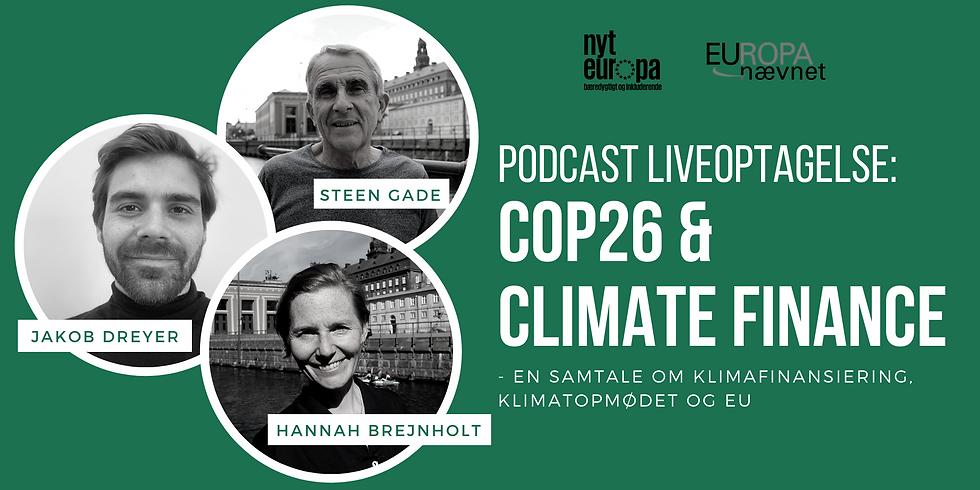 Deltag i podcast-liveoptagelse om COP26 & Climate Finance
