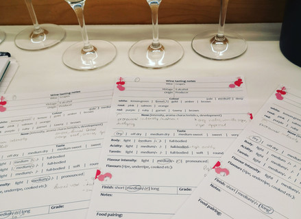 Wines and wine notes - WSET level 3