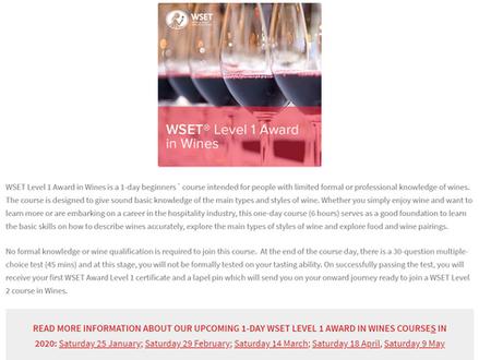 WSET courses at Oslo Wine School