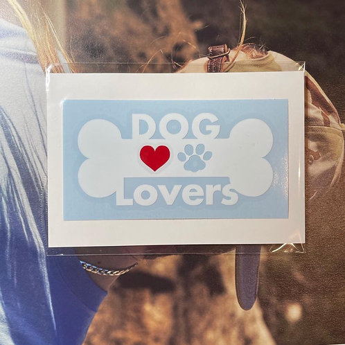 """ DOG Lovers "" 車用オリジナルステッカー"