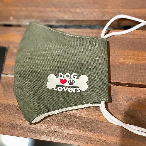 """"""" DOG Lovers """" マスク(カーキ)"""