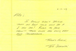 Ace Roofing Thank You Letter - 1