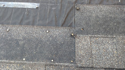 Improper shingle installation
