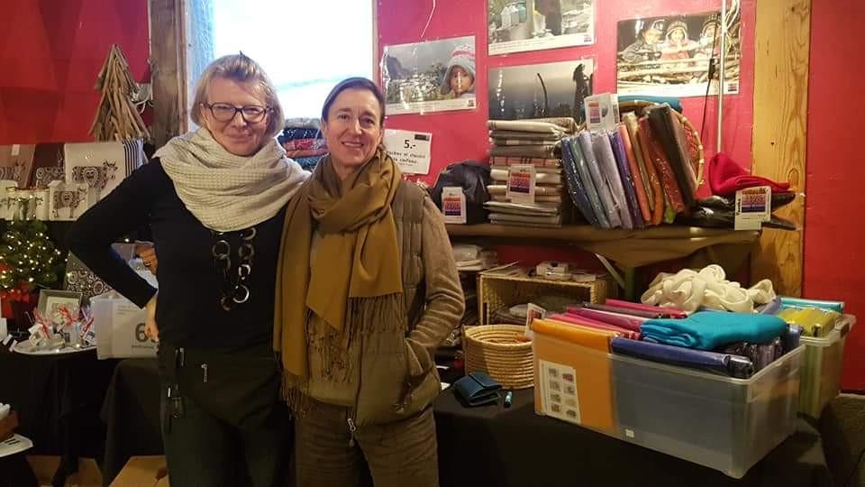 Véronique et Dominique stand Maili Style Market novembre 2018