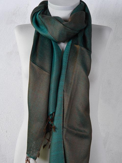 écharpe foulard laine soie losanges élégante association Maili