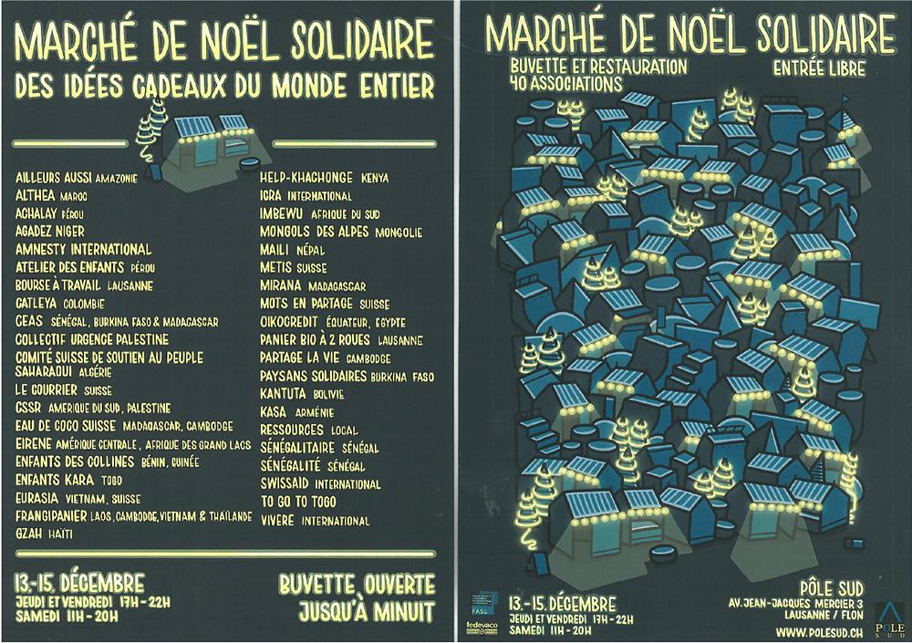 Marché Solidaire de Lausanne / Flon.