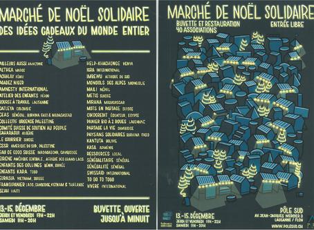 Marché de Noël Solidaire à Lausanne/Flon