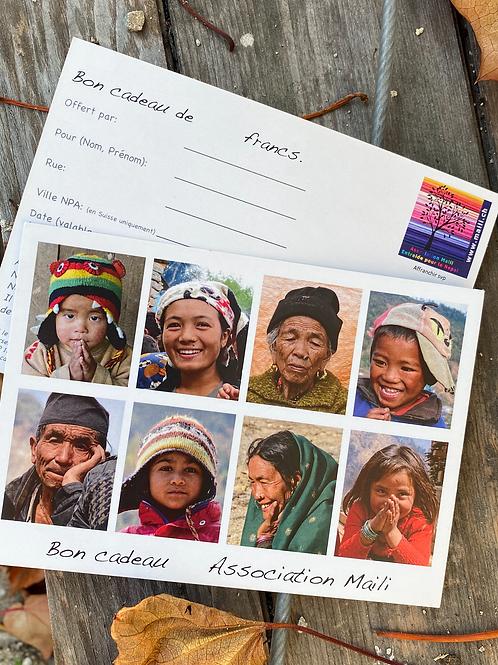 bon cadeau image personnes Népal Association Maili