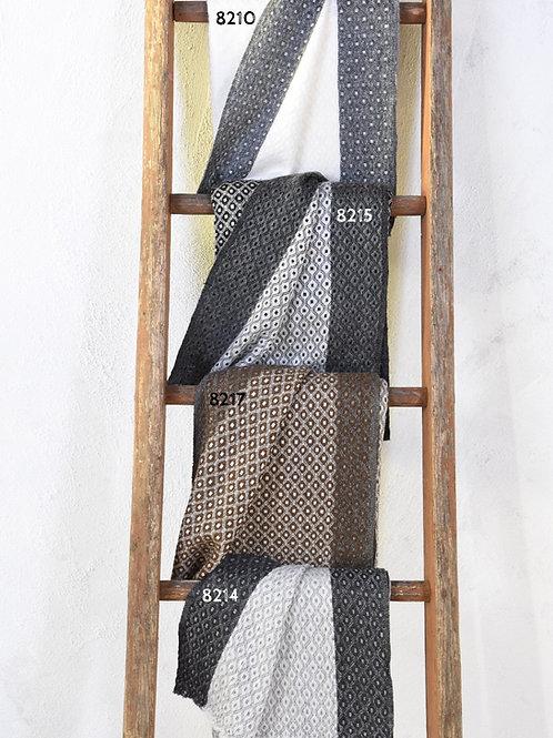 pashmina écharpe châle cachemire laine chaude épaisse tissage huit plis bordure association Maili