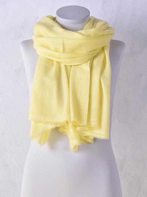 pashmina écharpe châle couverture cachemire laine jaune qualité hiver association Maili