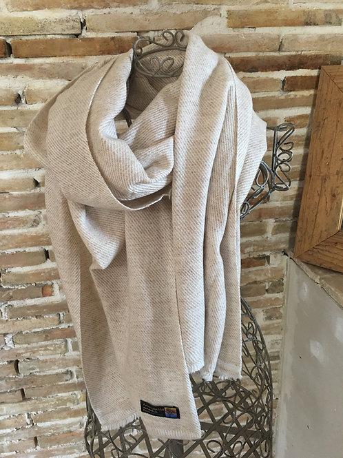 pashmina écharpe châle cachemire laine beige chaude épaisse tissage huit plis association Maili