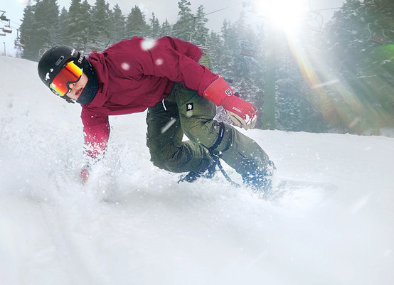 SNOWBOARDING ISABERG