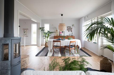 HJÄLTEVADSHUS Konsultation, färgsättning och inredning av visningshus i Kalmar 2017.