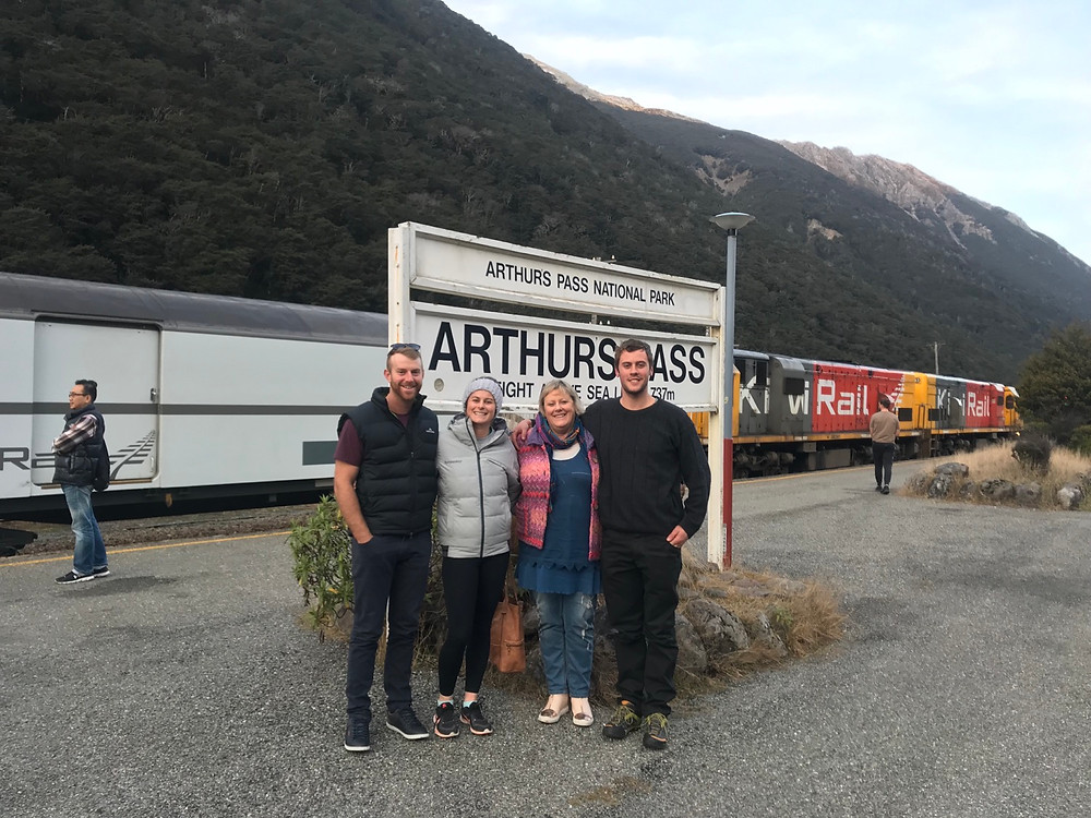 Arthurs Pass Stop, Stevie & Partner Ryan , Mum & #1 Son