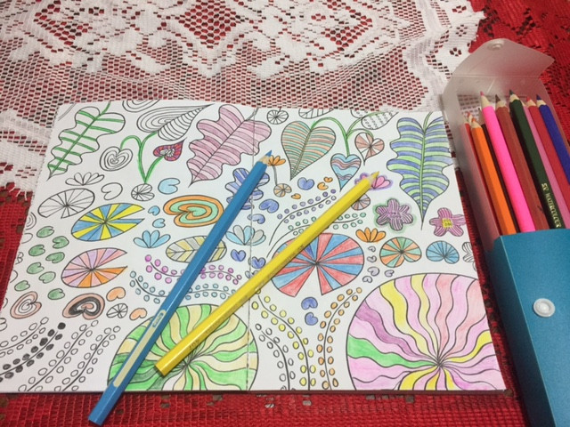 Get colouring to relax