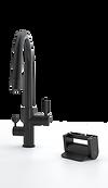 Konrad Foot Pedal Kitchen Faucet Control Principle Faucets Matte Black