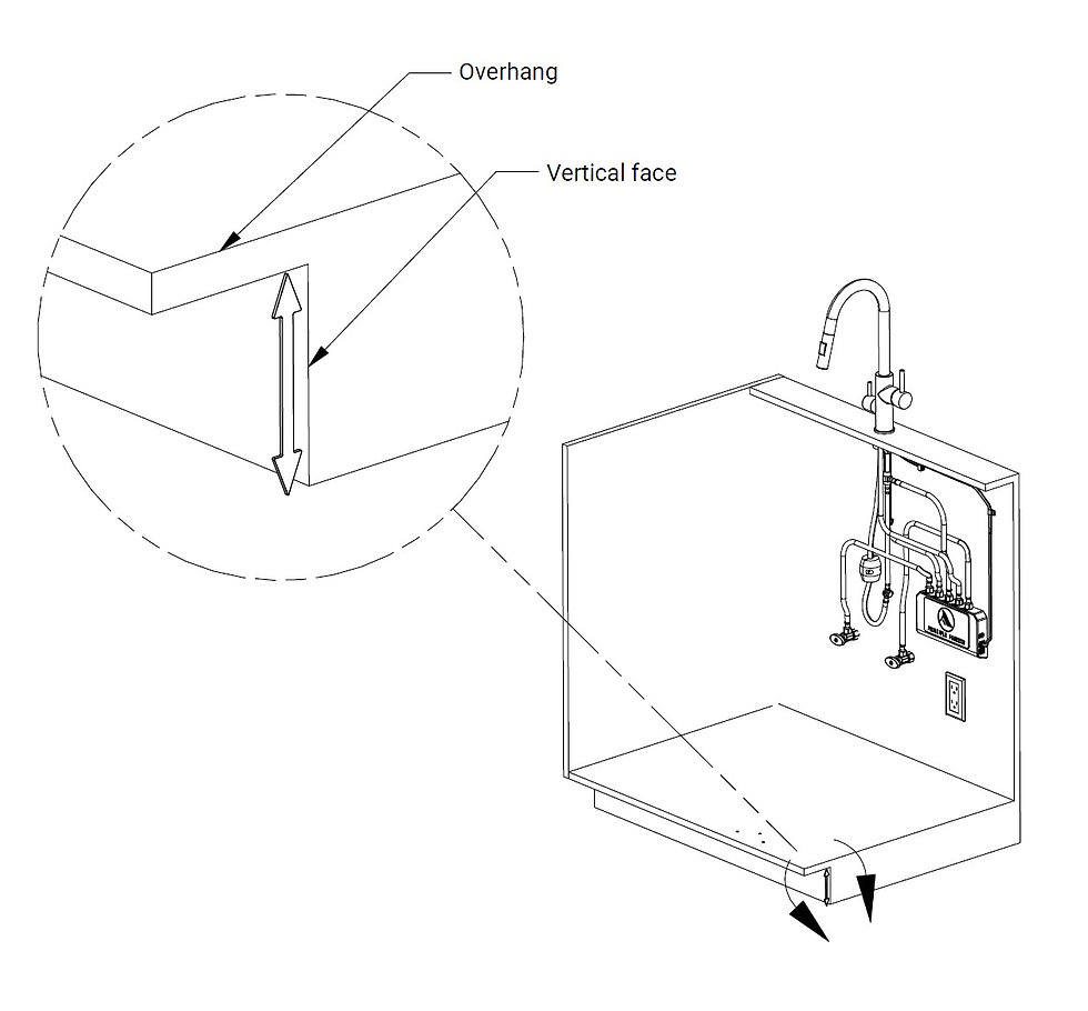 Cabinet Installation Foot Pedal