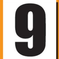 """""""9"""" Roller Derby """"DINK"""" Number"""