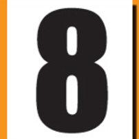 """""""8"""" Roller Derby """"DINK"""" Number"""