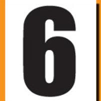"""""""6"""" Roller Derby """"DINK"""" Number"""